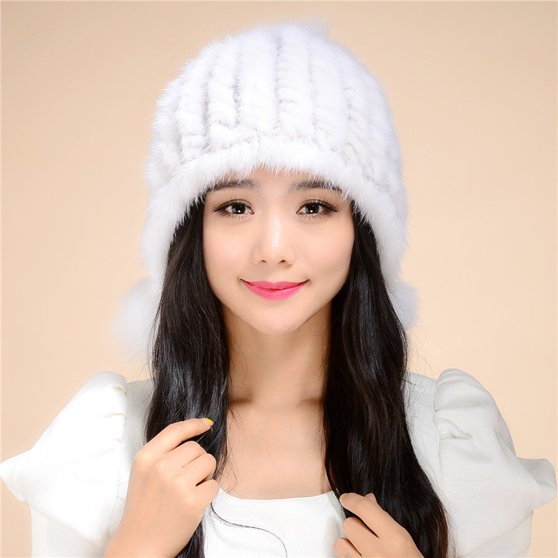 ФОТО 2016 New autumn and winter fur hat lady whole mink fur hat stewardess cap fashion warm special offer free shipping/ 9Color.#SD6