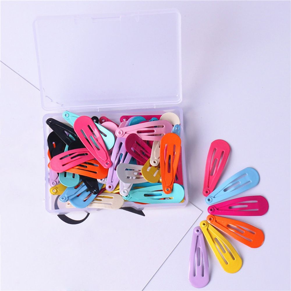 30pcs/<font><b>set</b></font> Snap <font><b>Hair</b></font> Clips 3cm Craft Water Drop Shaped Handmade DIY <font><b>Hair</b></font> <font><b>Accessories</b></font> for Kid Toddler <font><b>Girl</b></font> Hairgrip <font><b>Hair</b></font> Clip image