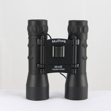 High Power 22X32 Binoculars HD Central Zoom Telescope Portable Long Range Folding binocular Night Vision for Hunting Camping