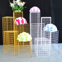 DIY geometry wall props stage backdrop walkway aisle arch metal rack stand for wedding birthday christmas flowers balloon