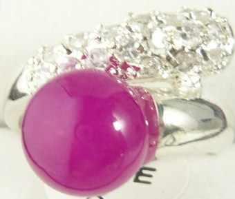 จัดส่งฟรี>>>@@ 2สีขายส่งโนเบิลสีแดง/สีม่วงหยกsilver platedคริสตัลฝังแหวนแฟชั่น(#7.8.9) #
