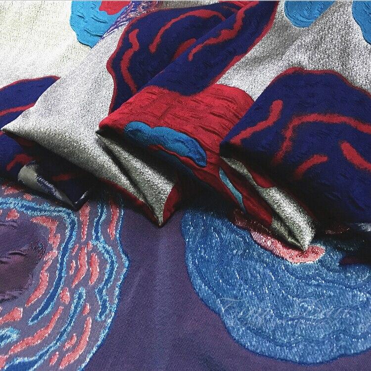 Abstracte bloemen jacquard stof jurk kind jas seizoenen haute couture - Kunsten, ambachten en naaien - Foto 3