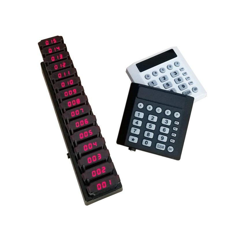 Système d'appel de Restaurant de téléavertisseur YCALL système de mise en file d'attente d'invité sans fil Beeper 1 émetteur de clavier 15 téléavertisseurs de caboteur K-TP15