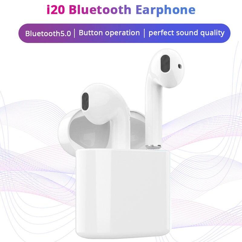 I20 TWS Bluetooth écouteurs sans fil pour Xiaomi redmi note 7 iphone 7 X Honor Huawei Smartphone Bluetooth 5.0 casque