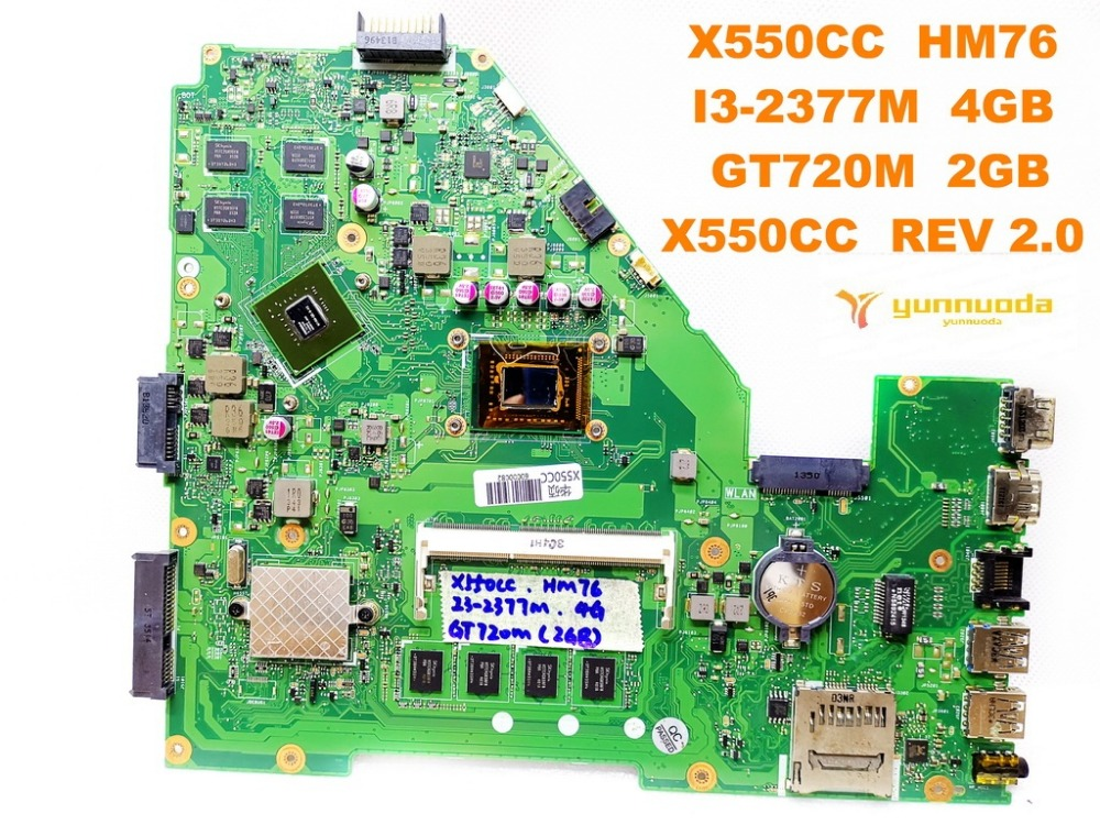 Original for ASUS X550CC  laptop motherboard X550CC  HM76  I3-2377M  4GB GT720M  2GB X550CC  REV 2.0   tested good free shippingOriginal for ASUS X550CC  laptop motherboard X550CC  HM76  I3-2377M  4GB GT720M  2GB X550CC  REV 2.0   tested good free shipping