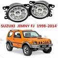 Para SUZUKI JIMNY (FJ) 1998-2015 para o amortecedor dianteiro alto brilho LED luzes de Nevoeiro luzes de NEVOEIRO Carro estilo branco 12 V 1 conjunto