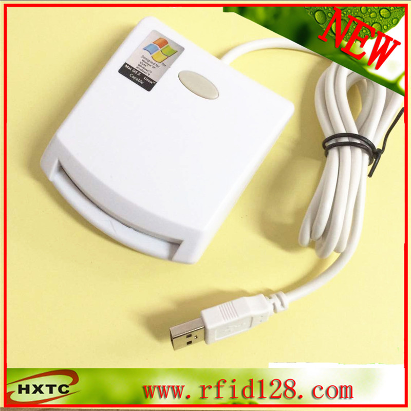 ISO7816 Contact Smart IC Card Reader Writer N99 for Network access control 200pcs lot customable 8 4mm mag stripe 2 track pvc smart ic card for iso hi co 2750 3000 4000 oe