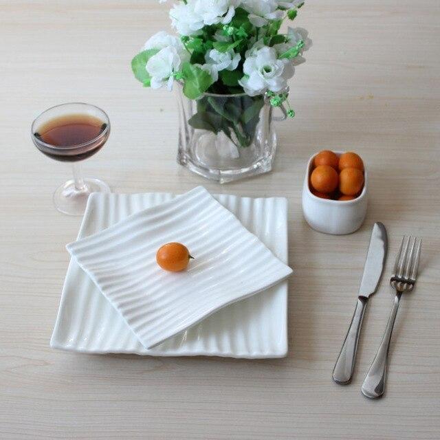 1piece White Porcelain Wave Shape Fruit Cake Snack Dinner Plate Dish Ceramic Plate Gift For Home & 1piece White Porcelain Wave Shape Fruit Cake Snack Dinner Plate Dish ...