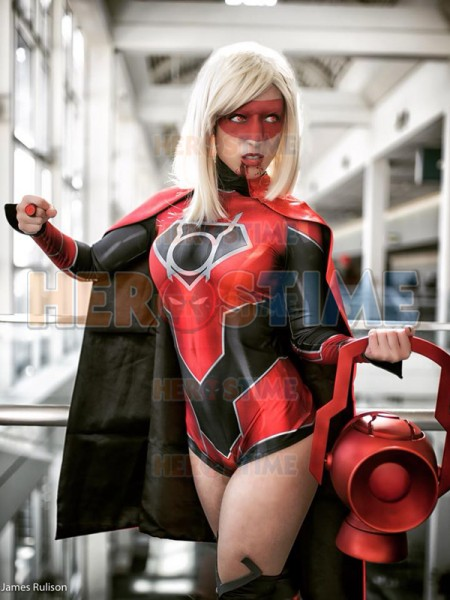 Spandex Printing Female Red Lantern Costume Halloween Party Cosplay  Suit Adult Red Lantern Girl Superhero Costume