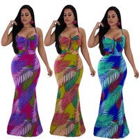 2019 fashion style new summer african women printing dress