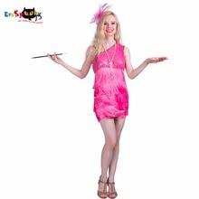 Rózsaszín Swing Girl Vintage Dress egy váll off bölények féldrágakő Latin Dance ruhák Rózsaszín hercegnő Halloween jelmezek Cosplay