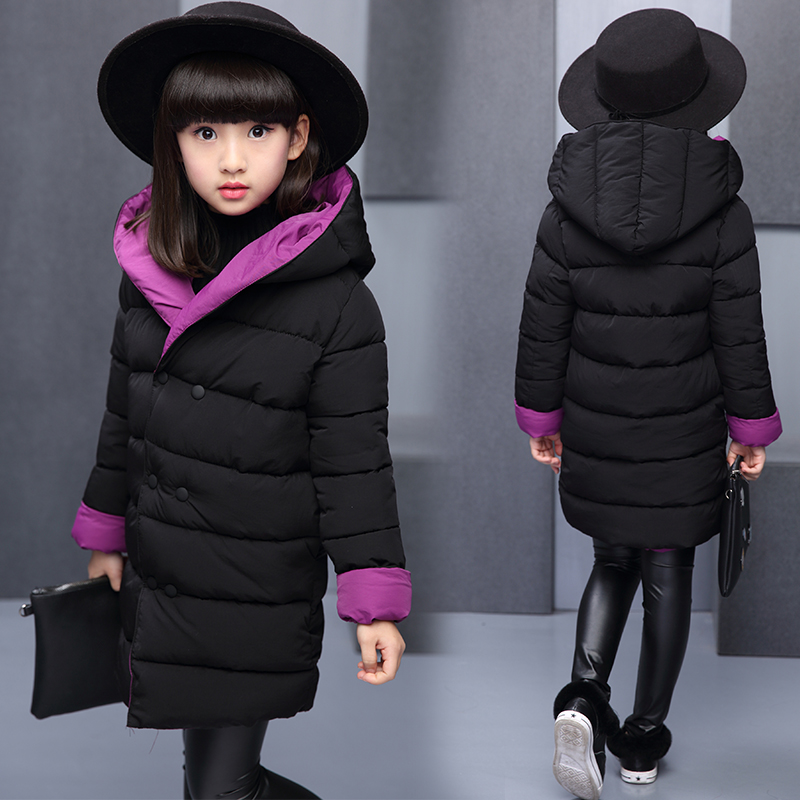 be2acba64 Winter Girls Hooded Jacket Baby Girls Winter School Christmas Cute ...