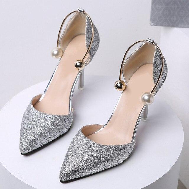 Chaussures automne argentées femme 60cN9YLtJ