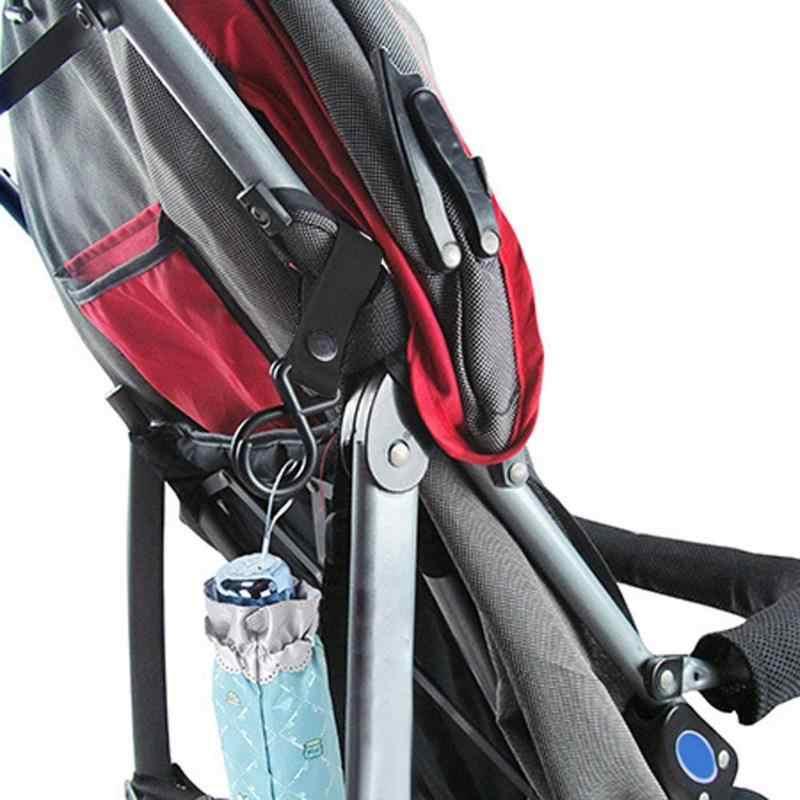 2/4 Uds cochecito de bebé gancho carrito de bebé cochecito de compras ganchos de bolsas para niños cunas cama Correa fuerte herramientas colgantes acceso