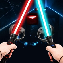 For Ocul us Rift Controllers Playing Be at Sab er Game Am vr Dual Handles Gamepad