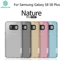 For Samsung Galaxy S8 Case NILLKIN Nature Transparent Clear Soft Silicon TPU Protector Case Cover For Samsung Galaxy S8 Plus