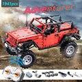 CADA RC дистанционное управление джип Вранглер автомобиль совместимый, новый Technic серии строительные блоки набор игрушка авантюрист автомоби...