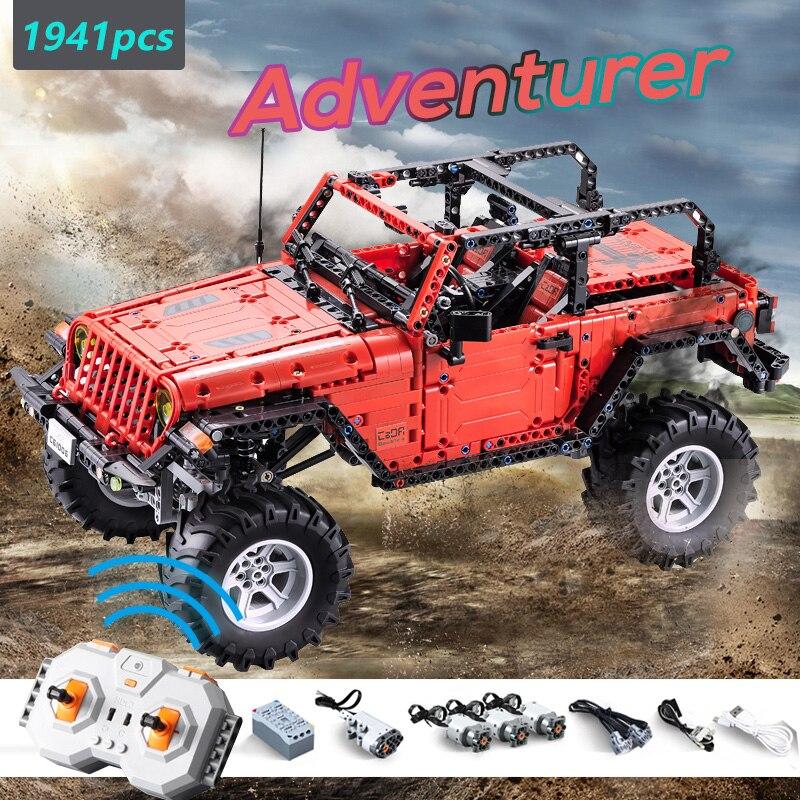 CADA RC télécommande Jeep Wrangler voiture Compatible nouvelle série technique blocs de construction Set jouet aventurier véhicule briques