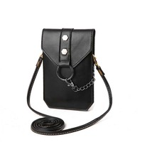 Free Shipping Bag Of Casual Mobile Phone Bag Mini Retro Diagonal Women S Zero Wallet Small