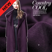 High Quality Winter Ledium Long Thick Purple Wool Fabric For Overcoat Outwear 150CM Wide 540G M