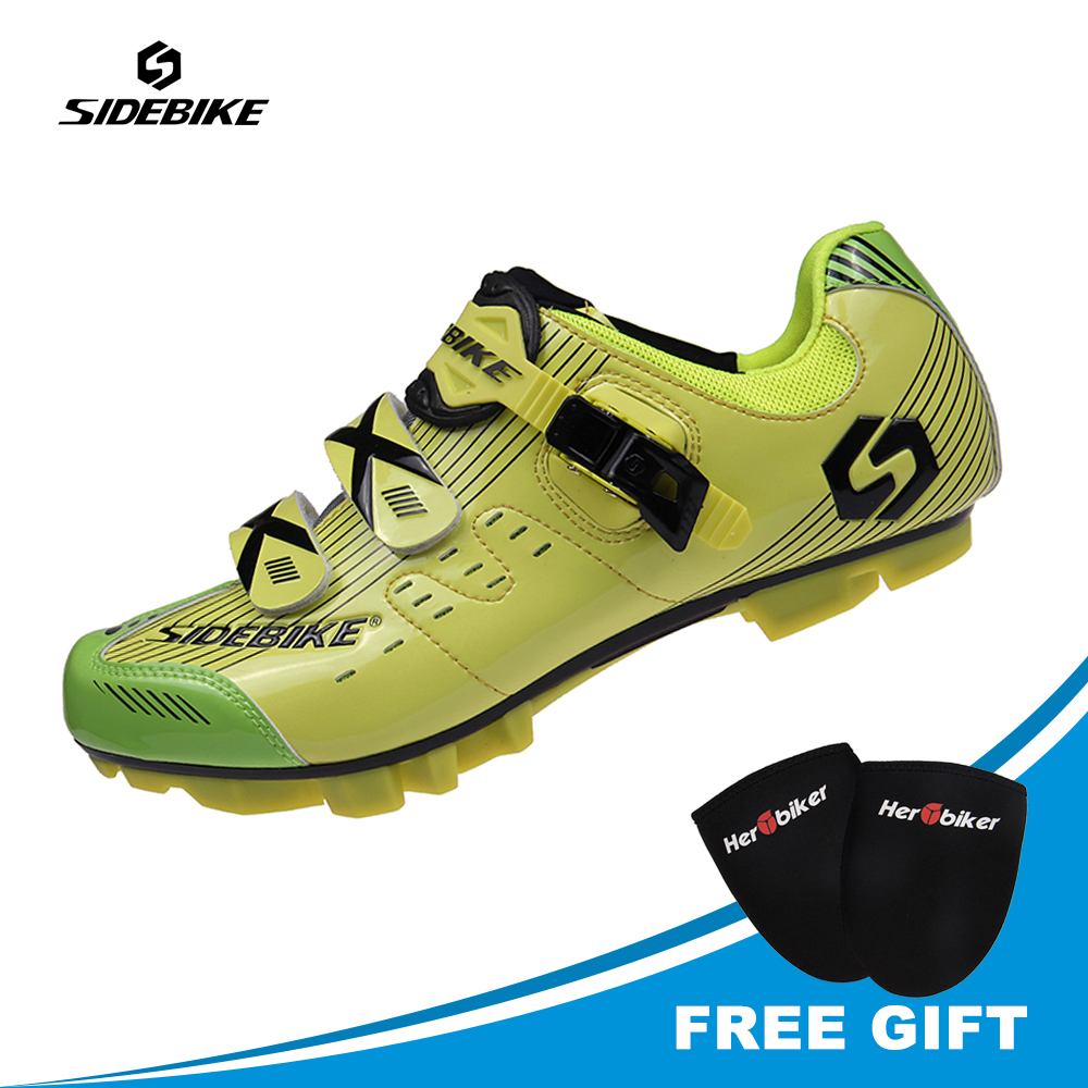 SIDEBIKE Professional Men Cycling Shoes Mtb Mountain Lighted Shoes Sapatilha Ciclismo Estrada Bicycle Zapatos De Ciclismo Mtb 2017 new sidebike mtb shoes mountain bike cycling bicycle shoes highway lock men athletic bicycle cycling sapatilha ciclismo mtb