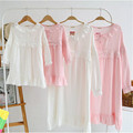 New lace pajamas mother and daughter matching family look clothing sets mommy and me pijama dress sleepwear ropa mama e hija