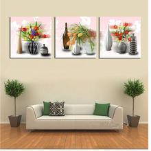 Триптих «сделай сам» алмазная вышивка старинная ваза с цветами