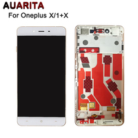 For One Plus X LCD Display Touch Screen With Frame Digitizer Assembly Replacement Glass Panel For