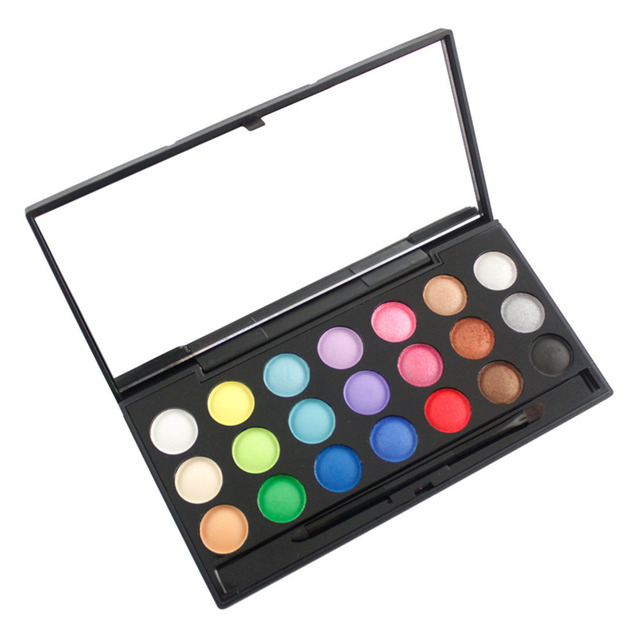 Beauty Cosmetic 2016 Warm Color Matte Shimmer Eyeshadow Make Up Palette Pro 21 Color Eyeshadow Brush Maekup Set Kit