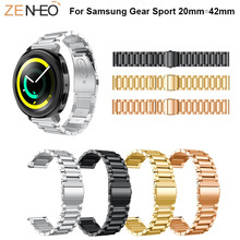 42mm simple metal Bracelet for Samsung Gear Sport watchband replacement Stainless Steel Straps For strap band