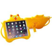 Детский силиконовый защитный чехол в форме кошки для планшета для ipad Pro 9,7/Air 2(ipad 6), ударопрочный чехол с ручкой в один хвост