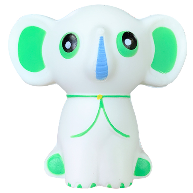 Kawaii Elephant Squishy Slow Rising Simulation Cartoon Doll Straps Scented Soft Stress Relief Squeeze Fun Xmas Gift Toy For Kid