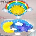 Креативный персональный мультяшный светильник для детской комнаты  потолочный светильник для детской спальни  лампа для мальчиков и девоч...