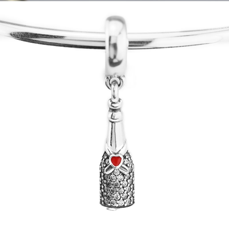 Pandulaso Celebration Time Dangle Charm Fit For Original Bracelets for women DIY jewelry making 925 sterling silver beads
