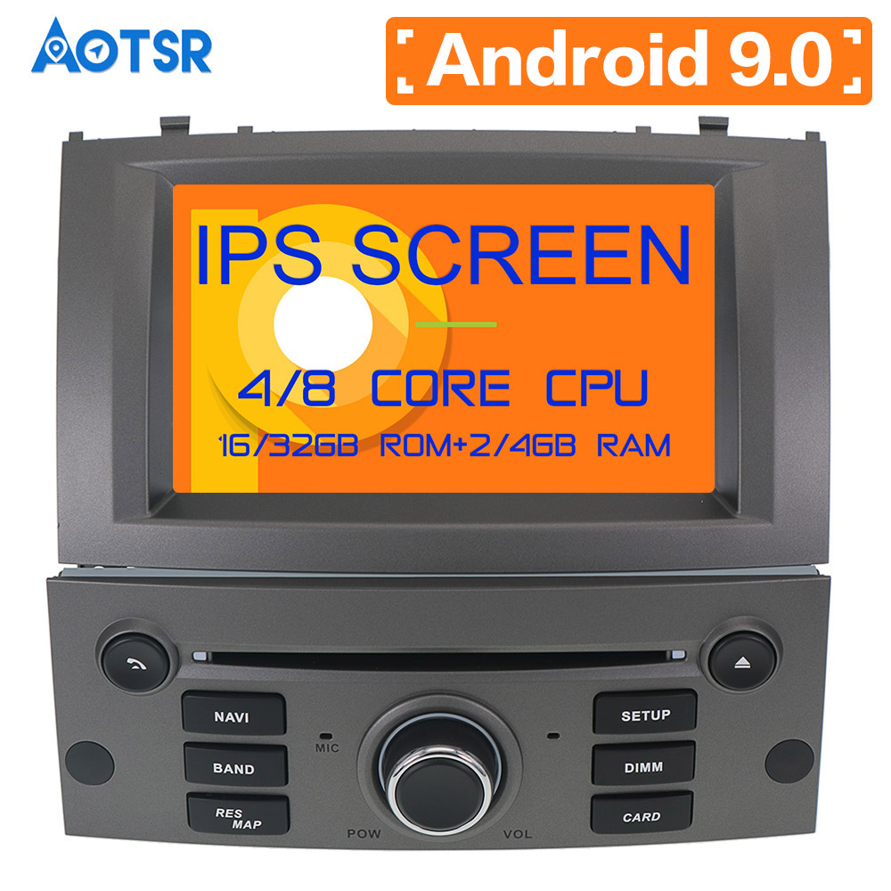 Android 9.0 8 core Car DVD CD player GPS Navigation For Peugeot 407 2004-2010 Multimedia system 2 din radio Auto radio Stereo