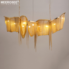 New Arrival Aluminum Chian Pendant Light Creative Rectangle Suspension Drop Lamp Lustrefor Living room Dining room Hotel Project new arrival k9 crystal pendant light modern fashion single light led dining room hotel project lustre suspension drop light