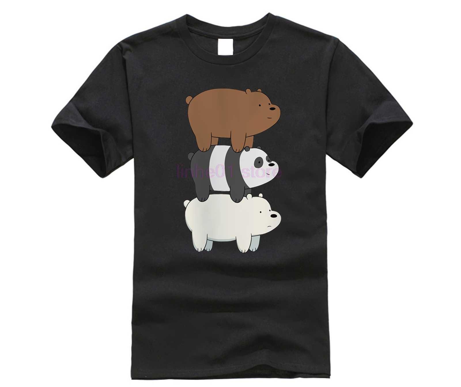 a11e6380 We Bare Bears TShirt men boy Summer O Neck white youth t shirt casual white  anime