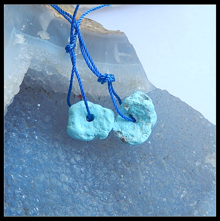 Discount!!!Sale 1Pcs Nugget Sleeping Beuaty Turquoise T Drilled Necklace Pendants 16x12x7mm 13x11x5mm 3.3g