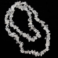 SAUVOO Clear Transparent Gravel Loose Beads White Crystal Quartz Stone 8 12mm For Jewelry Making Findings