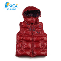 SP SHOW Children Winter Outwear Hooded Luxury Brand Unisex Vest Light Jackets Russian Style For 3 7 Age Fashion 2 Color Coat 212
