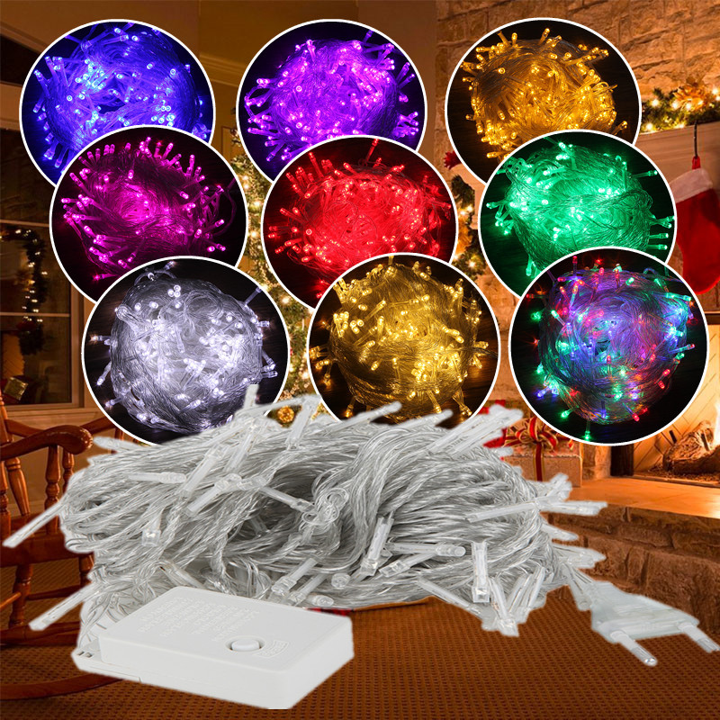 ECLH 10M 5M 100Led 40Led String Garland Christmas Tree Fairy Light Luce Waterproof Home Garden Party Outdoor Holiday Decoration