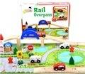 40 pcs urbana de combinação de brinquedos de madeira Montessori de Thomas trilhos de trem brinquedos educativos de W073