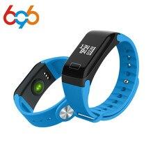 F1 pedômetro de fitness heart rate monitor de pressão arterial pulseira mulheres pulseira inteligente android trackersmartband vida waterproo