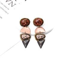2019 ZA New Bohemia Rhinestone Drop Earrings Statement Hanging Dangle For Women Girls Gift Pendientes Bijoux Wholesale