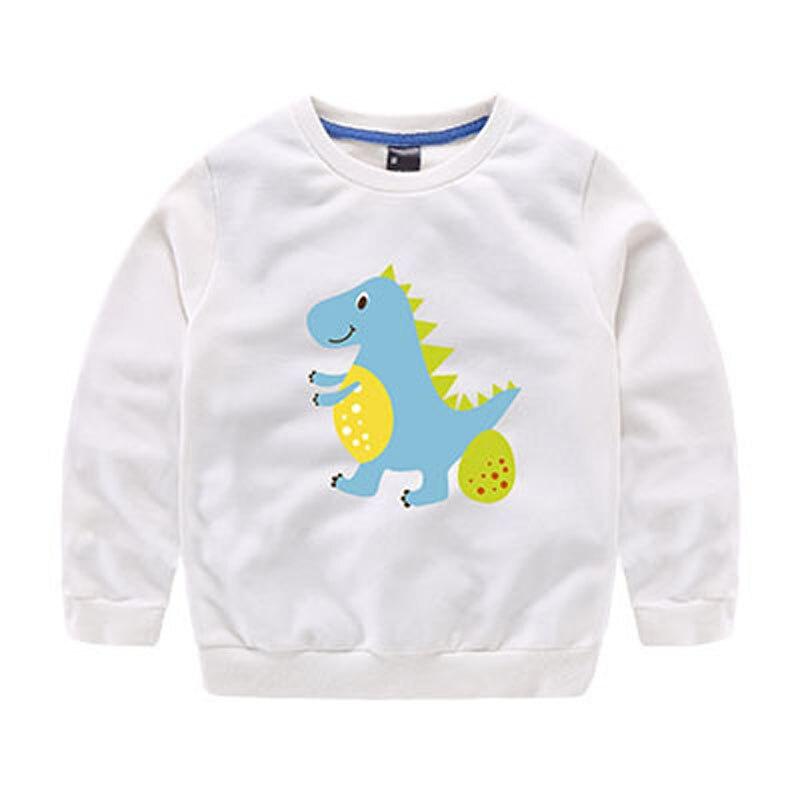 New Kids Dinosaur Sweatshirts For 2-8 Years Kids Boys/Girls Long Sleeve Cartoon Printed Dinosaur Sweat Shirts Pullover Tops