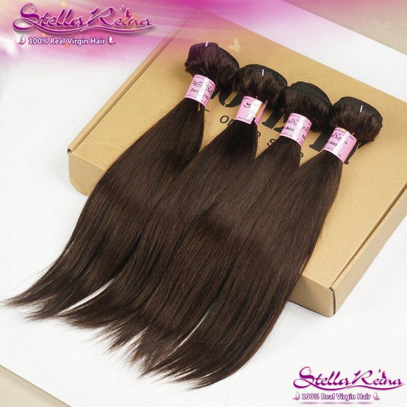 Mocha Hair Color 2 Dark Brown Brazilian Virgin Hair Straight Weave