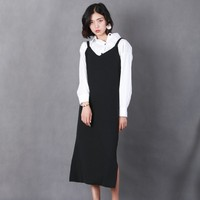 Free shipping/spaghetti strap autumn women dress/fashion designer Loose clothes/cotton long dress/european style/lyq085