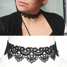 White & Black Lace Tattoo Choker Necklace