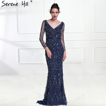 SERENE HILL Dubai Long Sleeve Evening Dresses 2019 Mermaid