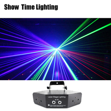 Fast delivery RGB Laser image Lines Beam Scans DMX DJ Dance Bar Coffee Xmas Home Party Disco Effect Lighting Light System Show